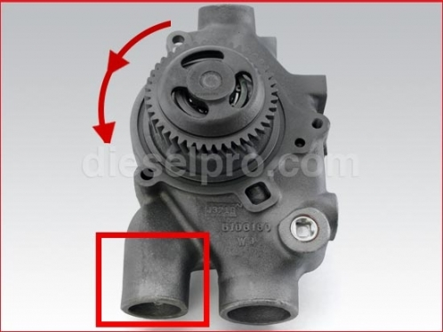 Water Pump for Detroit Diesel engine Marine RH - Rebuilt