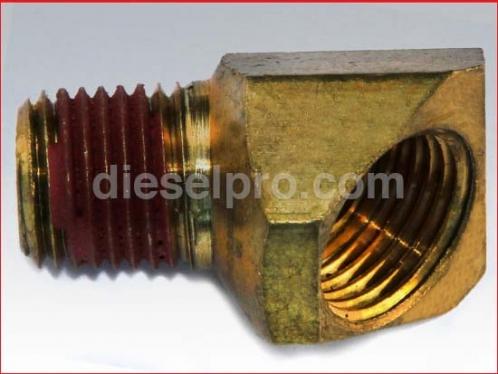Elbow for Detroit Diesel engine.