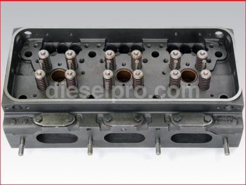 Cylinder head for Detroit Diesel - valves, springs- rebuilt