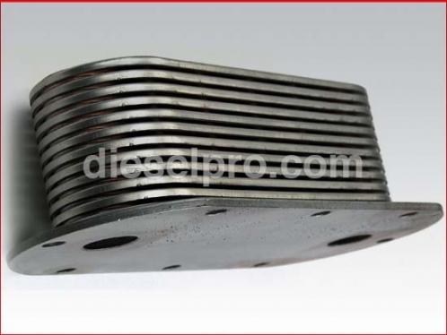 Oil cooler for Detroit Diesel engine - 13 plates