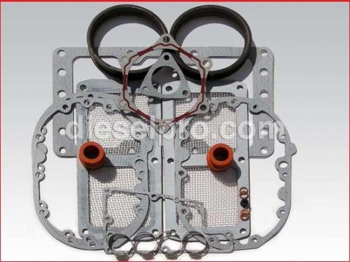 Blower installation kit for Detroit Diesel turbo engine