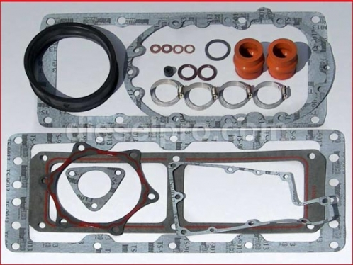 Blower installation gasket kit for Detroit Diesel turbo engines
