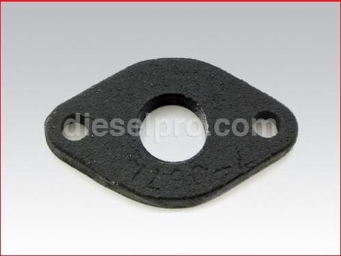 Threaded plate 3/4 inch for Detroit Diesel marine manifold