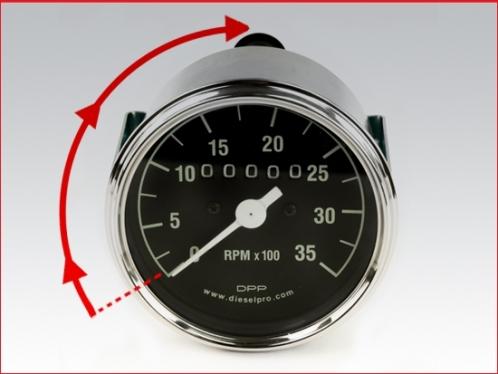 Mechanical tachometer for Detroit Diesel engine - hourmeter