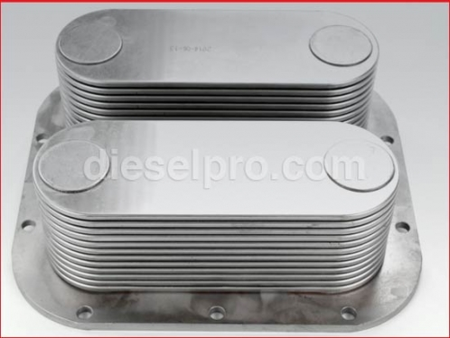 Detroit Diesel Oil cooler,  24 plates with nipples