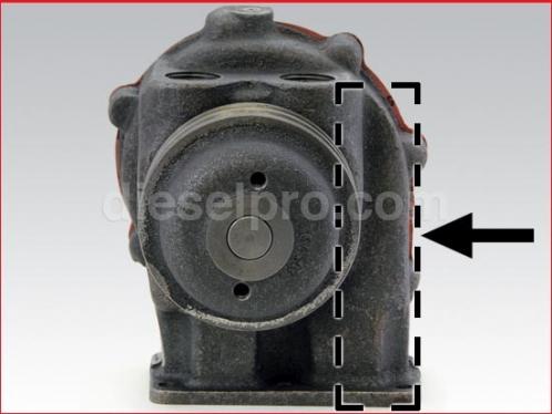 Detroit Diesel Fresh Water Pump for 353, 453, 6V53, 8V53.