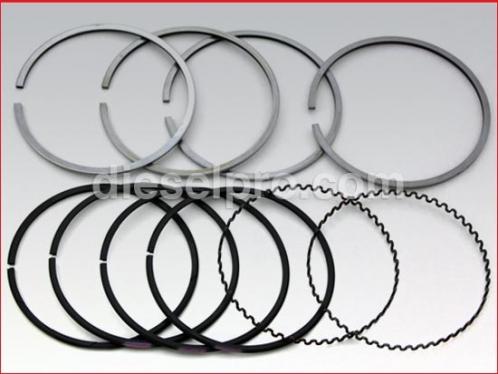 Ring set for Detroit Diesel 3-53, 4-53, 6V53, 8V53 - natural