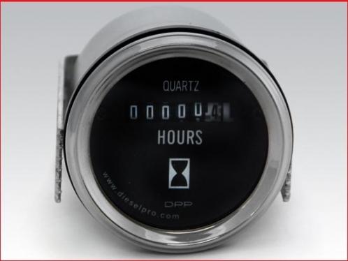 Hourmeter 12/24 volts - Heavy Duty - 2 inch dia