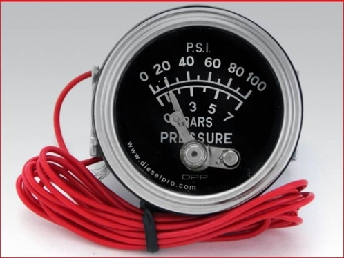 Engine oil  pressure gauge 0 to 100 PSI - Mechanical with Alarm
