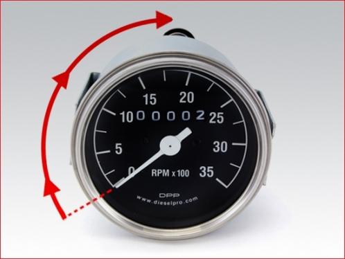 DP 5658112 Mechanical tachometer for Detroit Diesel engine - hourmeter