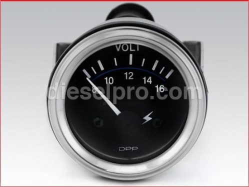 Voltmeter 12 volts - Heavy Duty - 2 inch dia