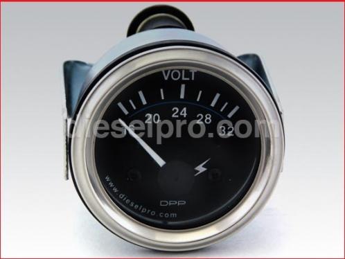 Voltmeter 24 volts - Heavy Duty - 2 inch dia