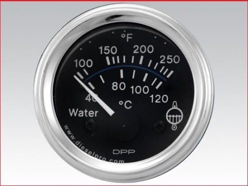 Engine water temperature gauge, Electrical 12 volts