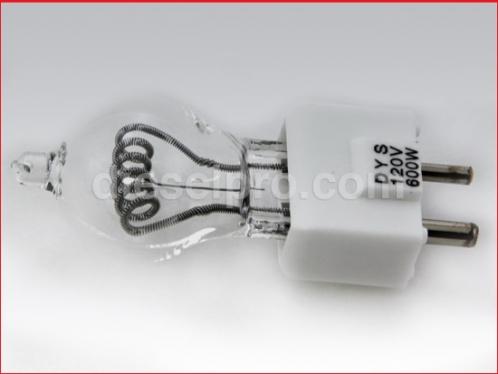 DP- 820 Marine Searchlight Quartz Halogen Bulb 600 watts 120 volts, 2 Pin Prefocus Type Base