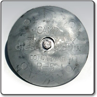 R2 Zinc anode for Boat Rudder - 2 13/16 inches