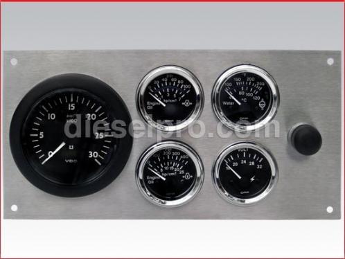 Complete electrial 12V gauge panel set with sender. Stainless steel