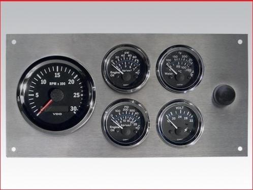 Marine Gauge Panel 24 volts, stainless steel heavy duty grade