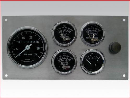 Complete mechanical with alarm gauge panel set. Stainless steel, (Heavy Duty)