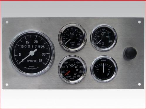 Marine Gauge Panel - Complete mechanical gauge set - (Heavy Duty)