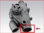 Detroit Diesel engine,12V71,Pump,Fresh water,Marine engine,23506763,Bomba de agua dulce,Motor marino