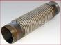 Detroit Diesel,3-53 Natural,Flexible metal exhaust hose,2 1/2 per 18 inches,2 1/2 X 18,Tubo metalico flexible,2 1/2 dia por 18 pulgadas