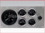 Marine Gauge Panel,Complete 12 volts gauge set,engine starter botton,stainless steel panel,Heavy Duty,PANEL12VSE,Tach with Sender