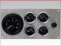 Marine Gauge Panel,Complete 12 volts gauge set,engine starter botton,stainless steel panel,Heavy Duty,PANEL12V