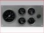 Marine Gauge Panel,Complete mechanical with alarm gauge set,engine starter botton,stainless steel panel,Heavy Duty,PANELMSG