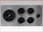 Marine Gauge Panel,Complete mechanical gauge set,engine starter botton,stainless steel panel,Heavy Duty,PANELMSTD