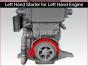 Detroit Diesel engine,Starter electric 24 volts left hand 11 teeth,MT40 2411LH, Arranque electrico 24 volts izquierdo 11 dientes