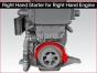 Detroit diesel engine,Starter electric MT50 24 volts right hand 11 teeth,MT502411RH,Arranque electrico 24 volts derecho 11 dientes