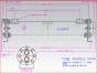 Twin Disc marine transmission,Oil cooler,M1959AD,Enfriador de aceite