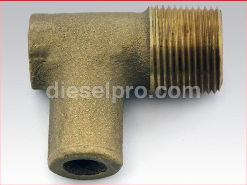 DP 8924187 B 90 degree marine manifold elbow for Detroit Diesel engine