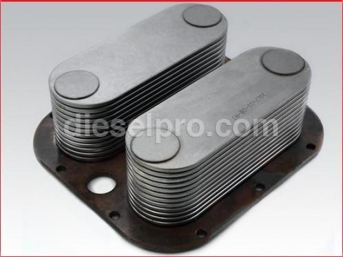 Oil cooler for Detroit Diesel engine - 24 plates