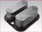 Detroit Diesel engine,Oil cooler,24 plates,8547237,Enfriador de aceite de 24 placas sin niples