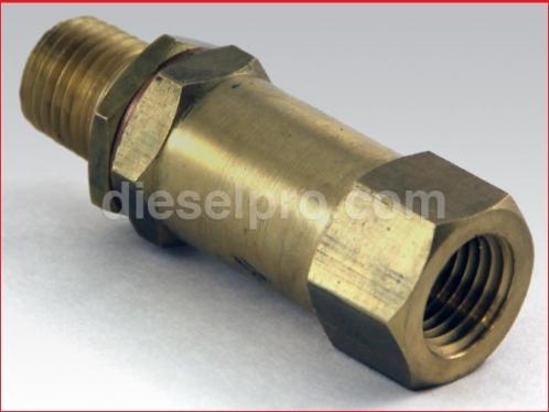 Fuel bypass valve for Detroit Diesel engine