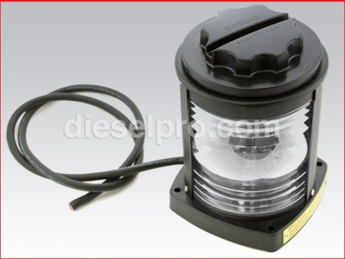 1128A00 BLK White Masthead Navigation Light - Perko