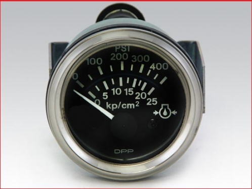 Marine gear oil pressure gauge 0 to 400 PSI, Electrical 24 volts