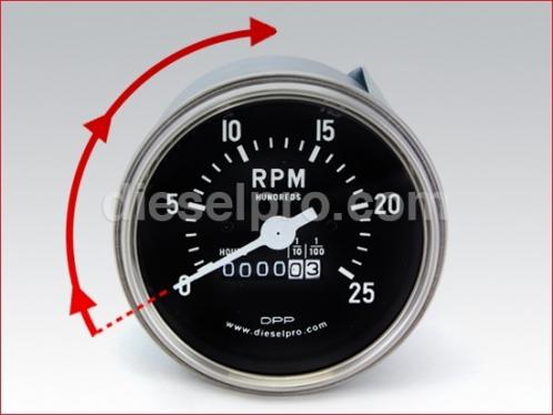 DP 5658115 Mechanical tachometer for Detroit Diesel engine - hourmeter