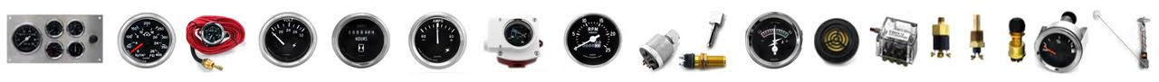 Manómetros de presion de aceite para motor, manometros de temperatura de agua, tachometros, voltimetros, horometros, amperimetros mecanicos y electricos